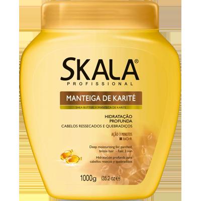 Creme de Tratamento de Cabelos Manteiga de Karité 1kg Skala pote POTE