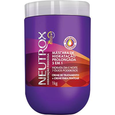 Creme de Tratamento de Cabelos Multibenefícios 1kg Neutrox pote POTE