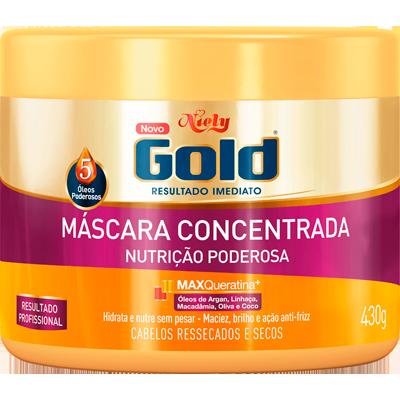 Creme de Tratamento de Cabelos Nutrição Poderosa 430g Niely Gold pote POTE