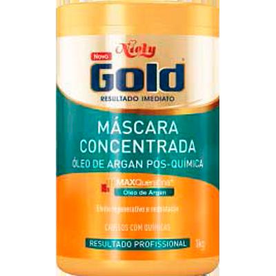 Creme de Tratamento de Cabelos Óleo de Argan 1kg Niely Gold pote POTE