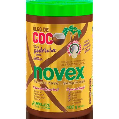 Creme de Tratamento de Cabelos Óleo de Coco 400g Novex pote POTE
