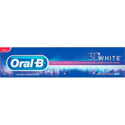 Creme Dental branqueador 3D white brilhant fresh 70g Oral-B 3D  UN
