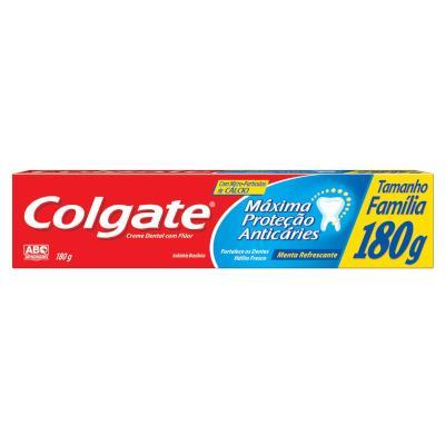 Creme Dental Máxima Proteção Anticáries (MPA) - Tamanho Família 180g Colgate  UN
