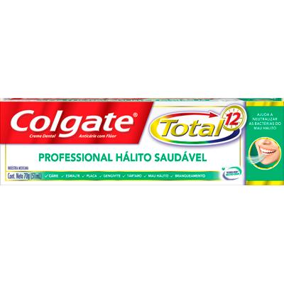 Creme Dental terapêutico professional hálito saudável 70g Colgate  UN