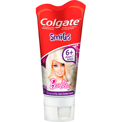 Creme Dental tradicional barbie júnior 100g Colgate  UN