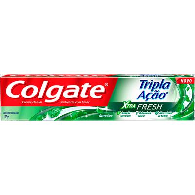 Creme Dental tradicional tripla ação xtra fresh 70g Colgate  UN