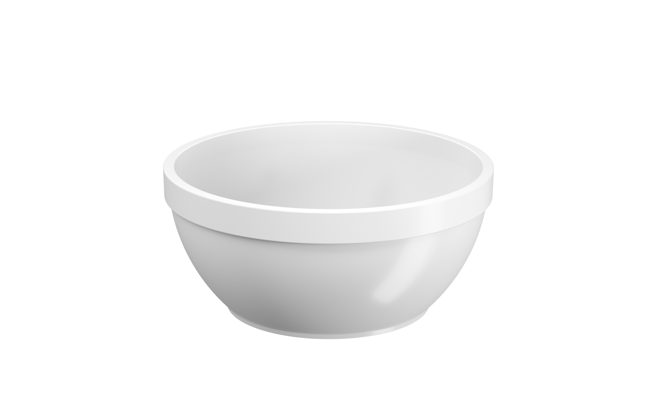Cumbuca Uno Branco Polipropileno (PP) 300ml Coza  UN