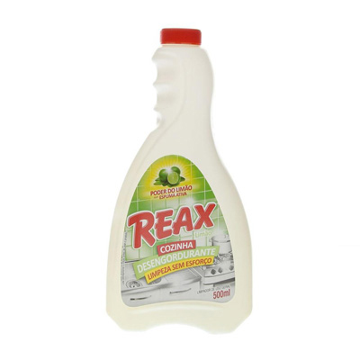 Limpador Desengordurante aroma de limão 500ml Reax frasco FR