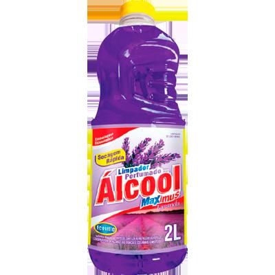 Desinfetante com álcool lavanda roxo 2Litros Ecoville frasco FR