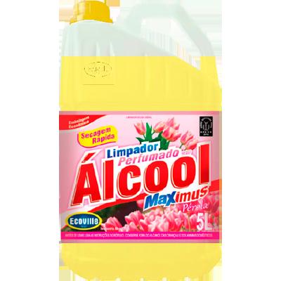 Desinfetante com álcool perfumado pérola /pêssego 5Litros Ecoville galão GL