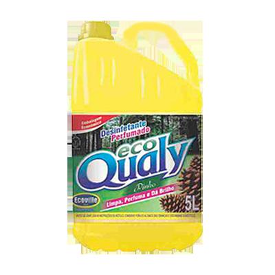 Desinfetante pinho amarelo 5Litros Ecoville galão GL