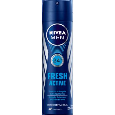 Desodorante Aerossol Fresh Active 150ml Nivea Men  UN