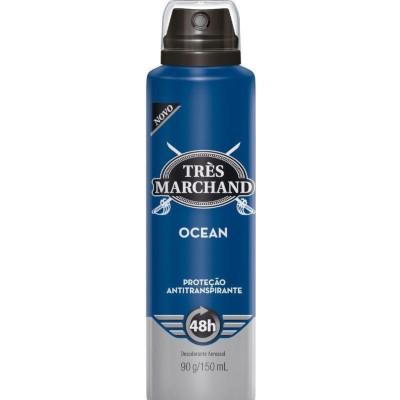 Desodorante Aerossol Ocean 150ml Très Marchand  UN