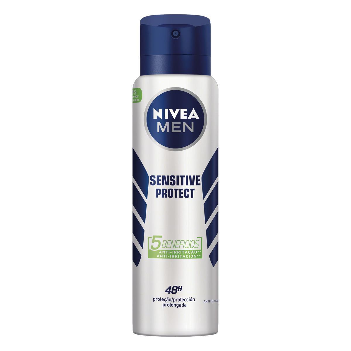 Desodorante Aerossol Sensitive Protect 150ml Nivea Men  UN