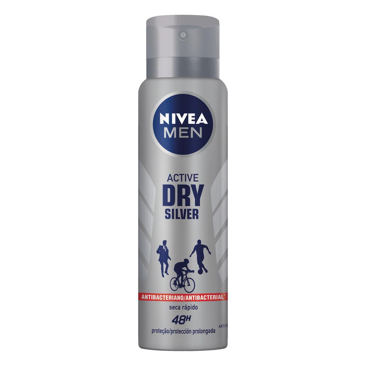 Desodorante Aerossol Silver Protect 150ml Nivea Men  UN