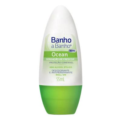 Desodorante roll-on ocean 55ml Banho a Banho  UN