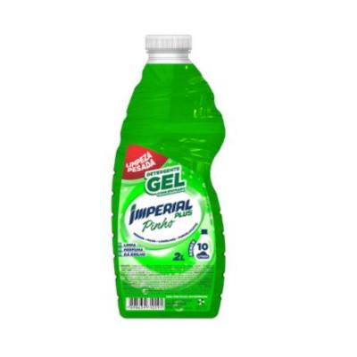 Detergente Gel Concentrado Pinho 2Litros Imperial Plus frasco FR