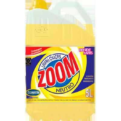 Detergente Líquido Neutro 5Litros Ecoville/Zoom galão GL
