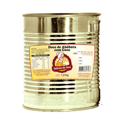Doce de abóbora com coco 1,01kg Delícias Da Vovó lata UN