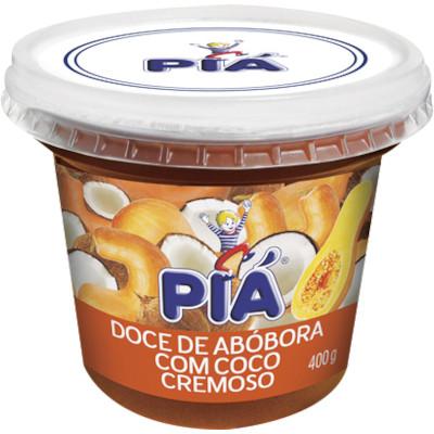 Doce de abóbora com Coco 400g Pia pote UN