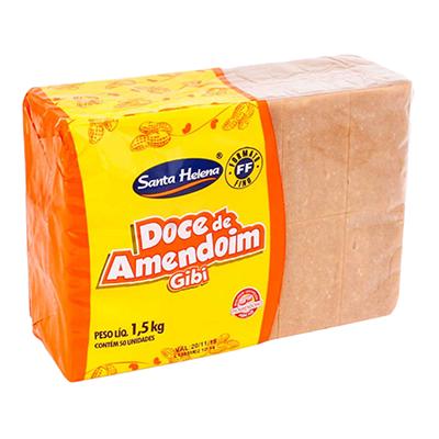 Doce de amendoim gibi 50 unidades Gibi pacote UN