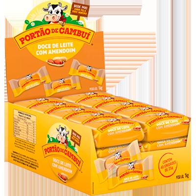 Doce de leite cremoso com amendoim 25g Cambui  UN