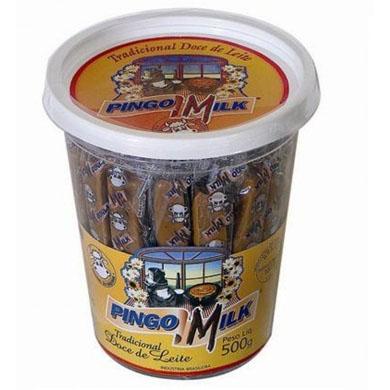 Doce de leite pingo de leite 50 unidades Pingo Milk pote POTE