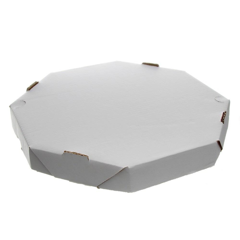 Embalagem para pizza oitavada 35cm lisa 25 unidades Master Clean pacote PCT
