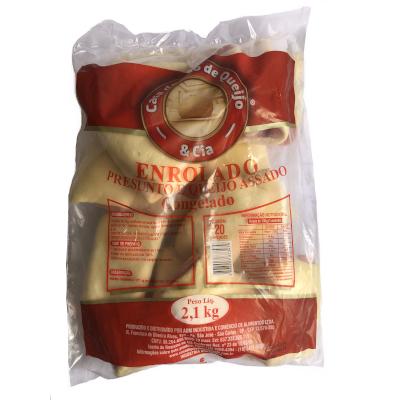 Enrolado Assado Requeijão, Presunto e Queijo Prato 20 unidades Casa do Pão de Queijo pacote 2,8 kg PCT