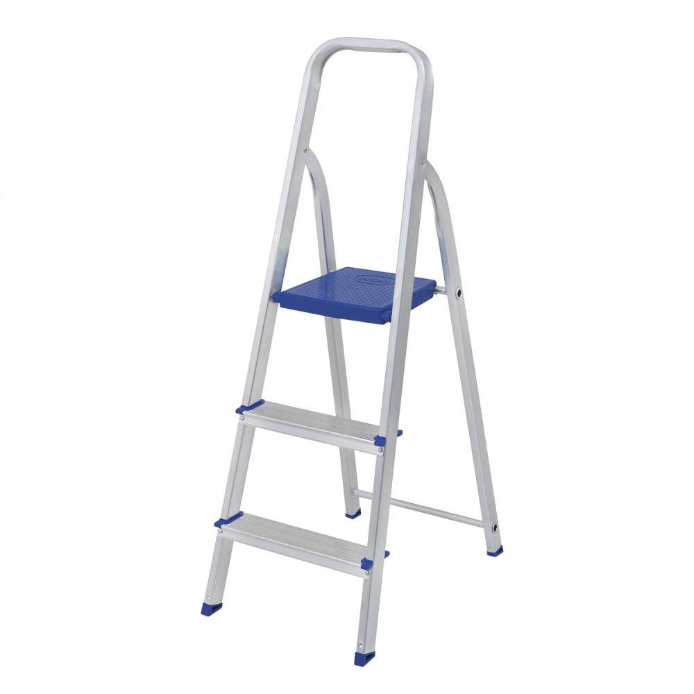 Escada Dobrável em Alumínio 3 Degraus 5101 Prata unidade Mor  UN
