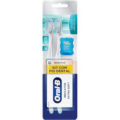 Escova Dental Indicator Grátis Fio Dental   2 unidade Oral-B  UN