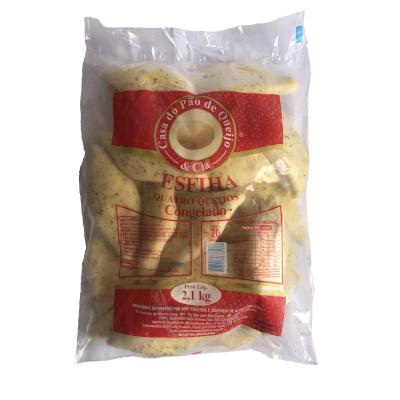 Esfiha de 4 queijos 20 unidades Casa do Pão de Queijo pacote 2,8 kg PCT