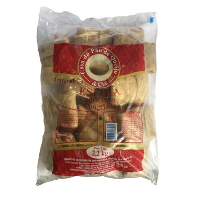 Esfiha de Brócolis 20 unidades Casa do Pão de Queijo pacote 2,8 kg PCT