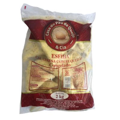 Esfiha de Calabresa 20 unidades Casa do Pão de Queijo pacote 2,8 kg PCT