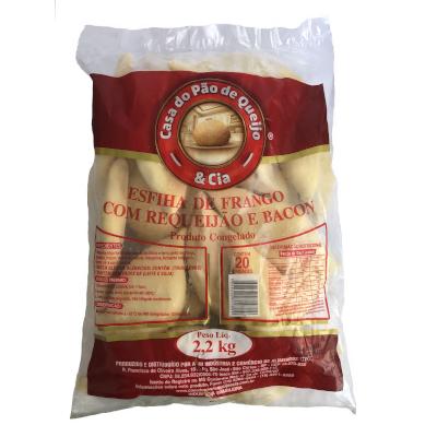Esfiha de Frango com Bacon 20 unidades Casa do Pão de Queijo pacote 2,8 kg PCT