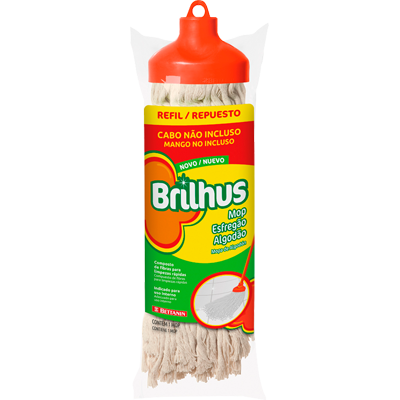 Esfregão mop algodão com cabo unidade Brilhus Bettanin  UN
