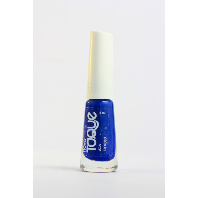 Esmalte Cremoso Azul 8ml Novo Toque  UN