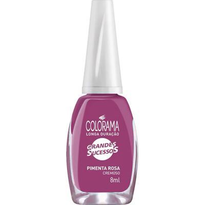 Esmalte Cremoso Pimenta Rosa 8ml Colorama blister UN