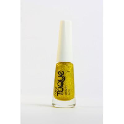 Esmalte Gliter Dourado 8ml Novo Toque  UN