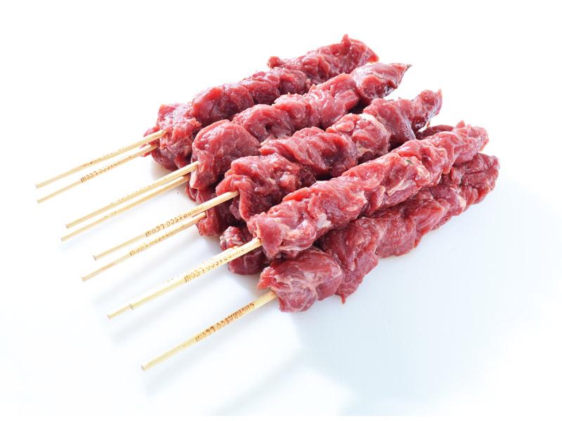 Espetinho de Carne Bovina de Primeira Resfriado 1Kg Chef Meat pacote PCT