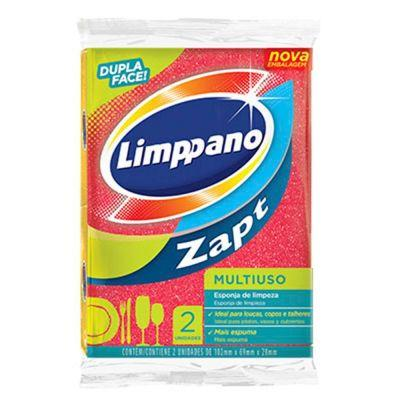 Esponja de limpeza multiuso dupla face 2 unidades Limppano pacote PCT