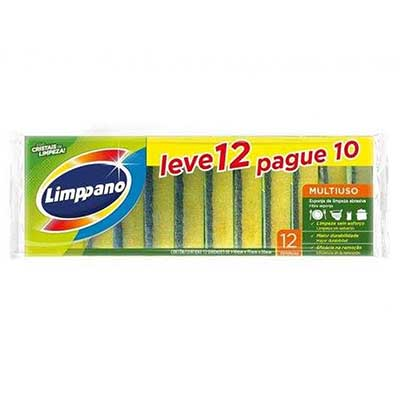 Esponja de limpeza multiuso Leve 12 Pague 10 12 unidades Limppano pacote UN