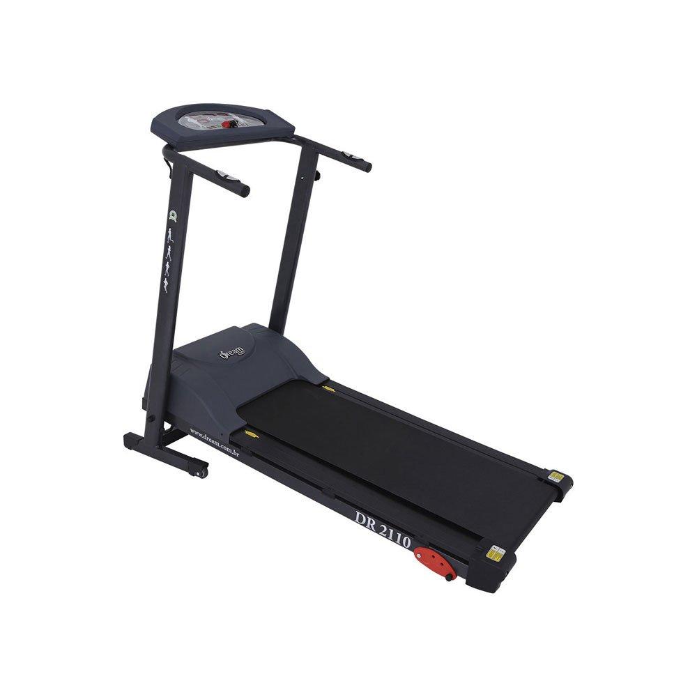 Esteira DR2110 13 KM/H 3 Níveis 4 Programas Cinza Bivolt unidade Dream Fitness  UN