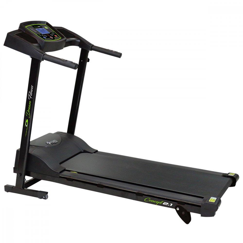 Esteira Eletrônica Dobrável Concept 2.1 Plus 13 KM/H 9 Programas Preta Bivolt unidade Dream Fitness  UN
