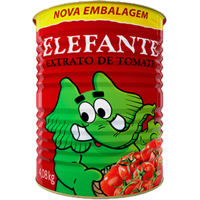 Extrato de tomate  4,08kg Elefante lata LT