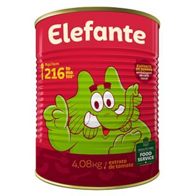 Extrato de Tomate Tradicional 4,08kg Elefante lata LT