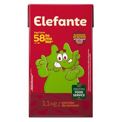 Extrato de Tomate Tradicional 1,1kg Elefante tetra pak UN