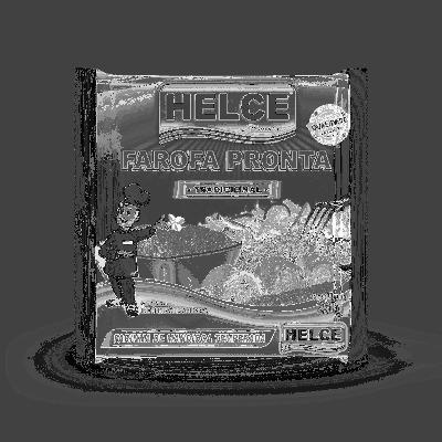 Farinha de mandioca temperada 250g Helce pacote PCT