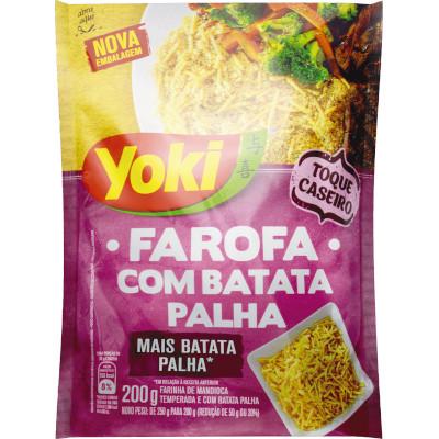 Farinha de mandioca Temperada Palha 200g Yoki pacote PCT