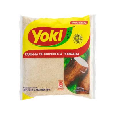 Farinha de mandioca torrada 500g Yoki pacote PCT